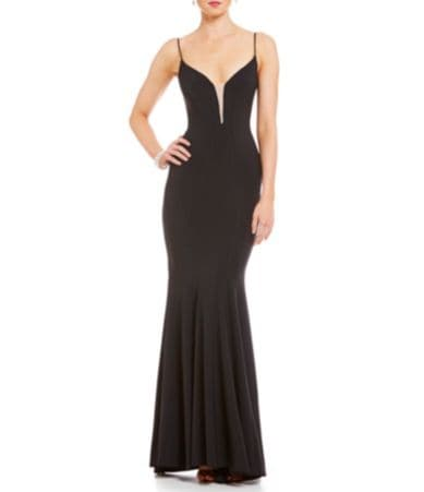 Wedding Betsy And Adam betsy adam long mesh insert gown dillards gown