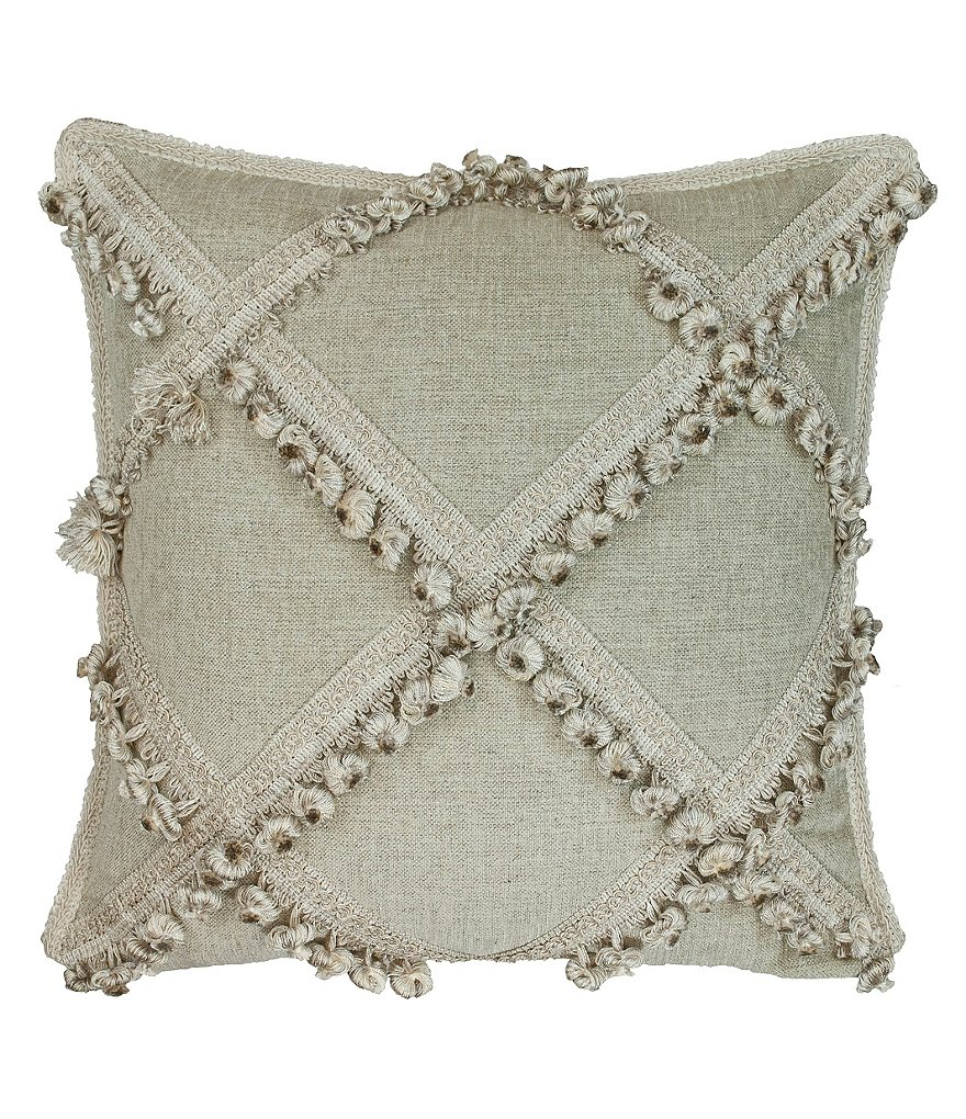 Austin Horn Classics Jacqueline Ball-Fringed Square Pillow