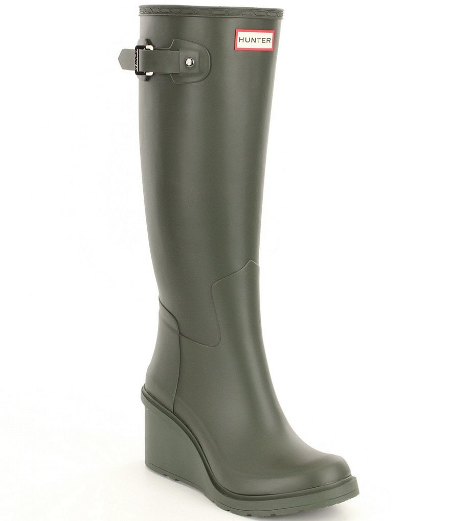 Hunter Original Refined Mid Wedge Tall Rain Boots