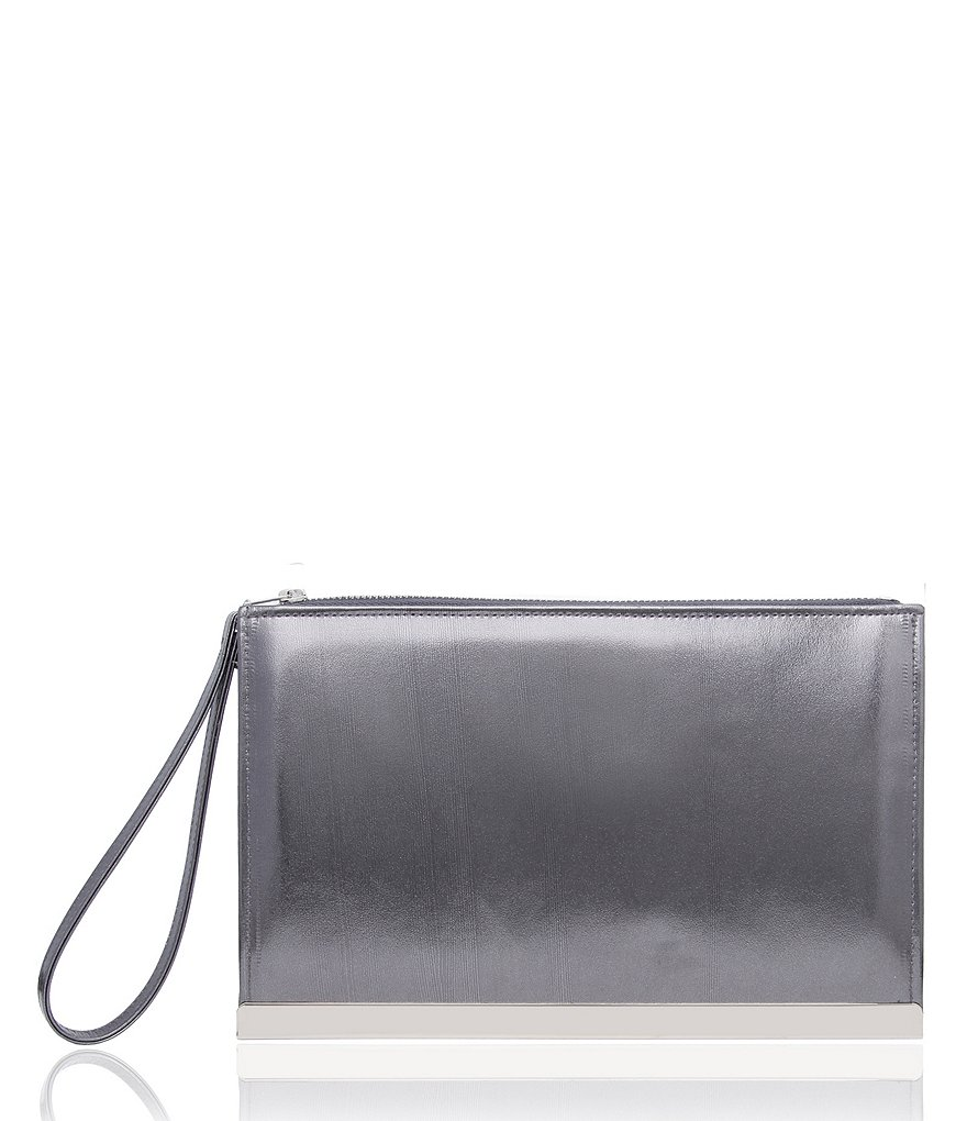 Nina Metallic Wristlet Clutch
