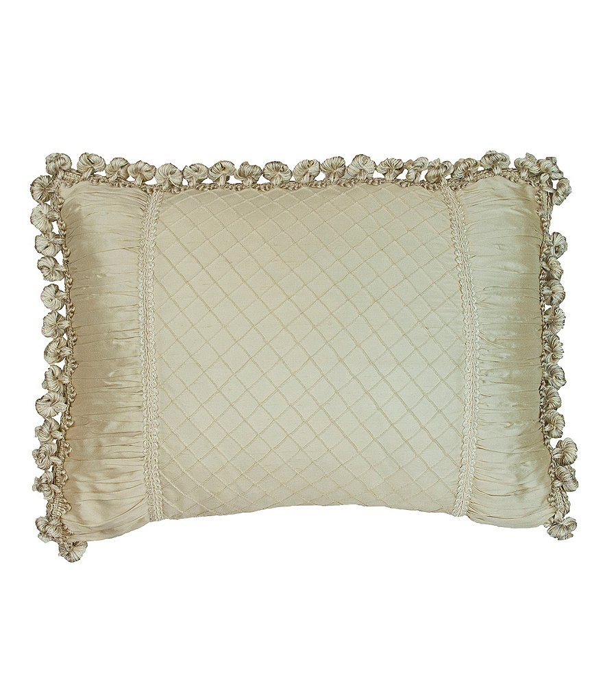 Austin Horn Classics Jacqueline Ball-Fringed Ruched Pillow