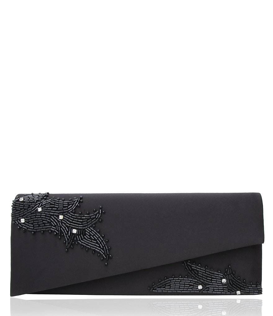 Nina Macyn Asymmetrical-Beaded Clutch