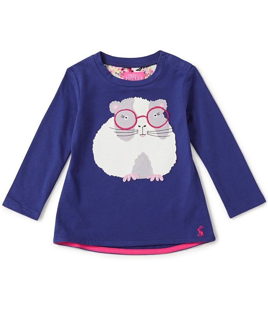 Joules Baby/Little Girls 12 Months-3T Fava Knit Hamster Appliqué Top