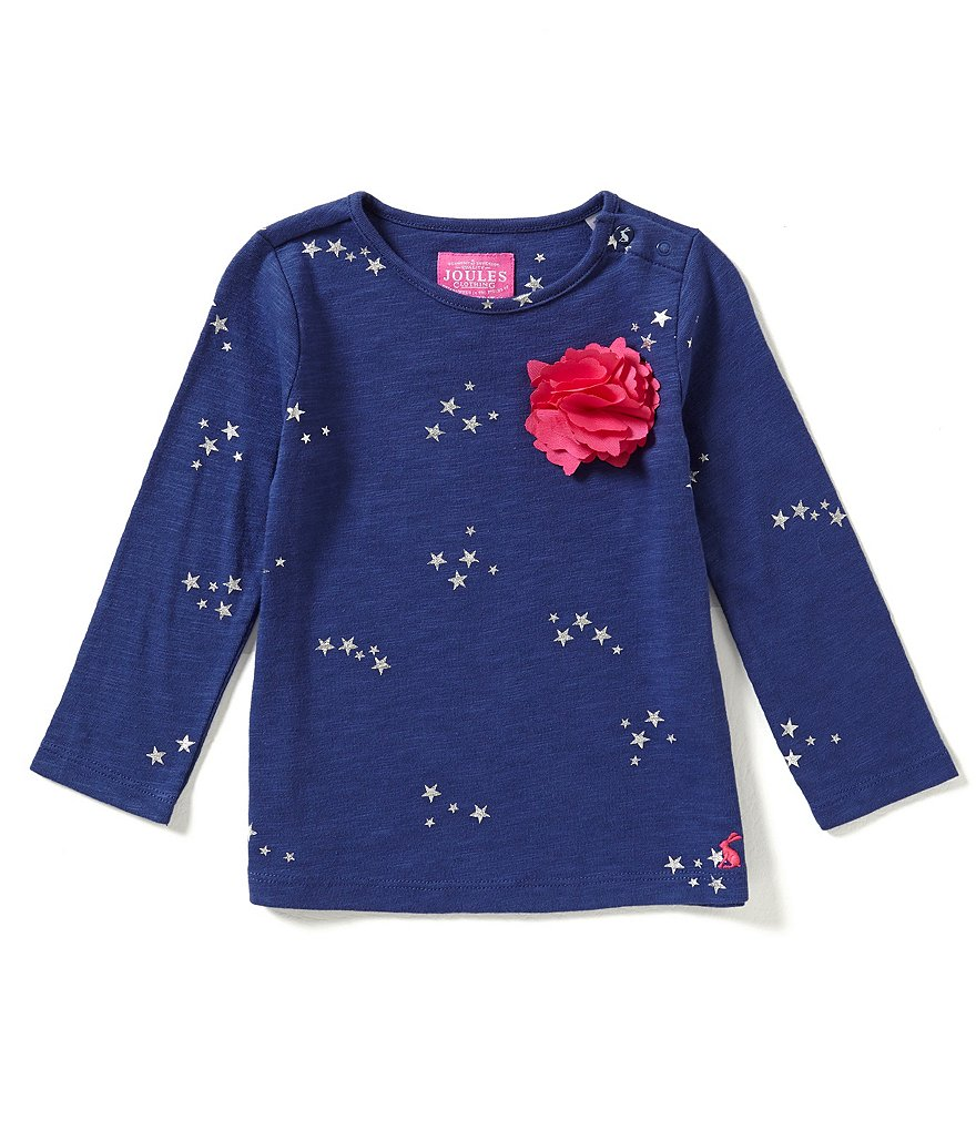 Joules Baby/Little Girls 12 Months-3T Cora Star-Print Jersey Top