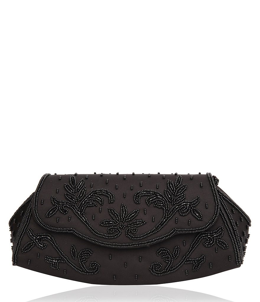 Nina Marisole Rocker Clutch with Beaded Detail