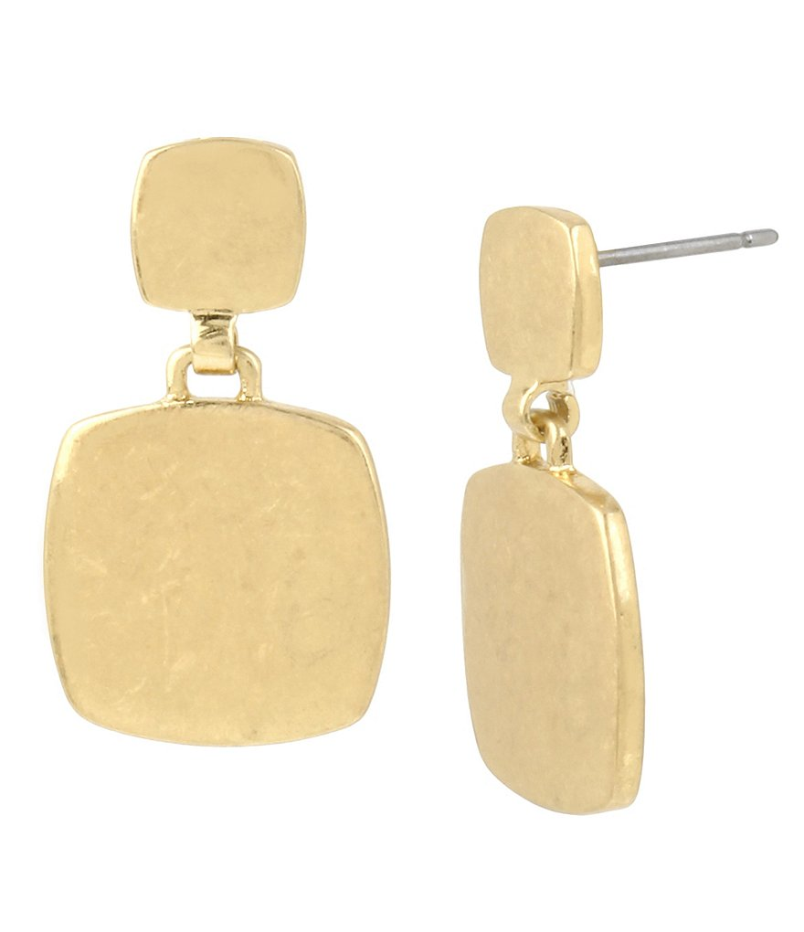 Kenneth Cole New York Geometric Square Drop Earrings