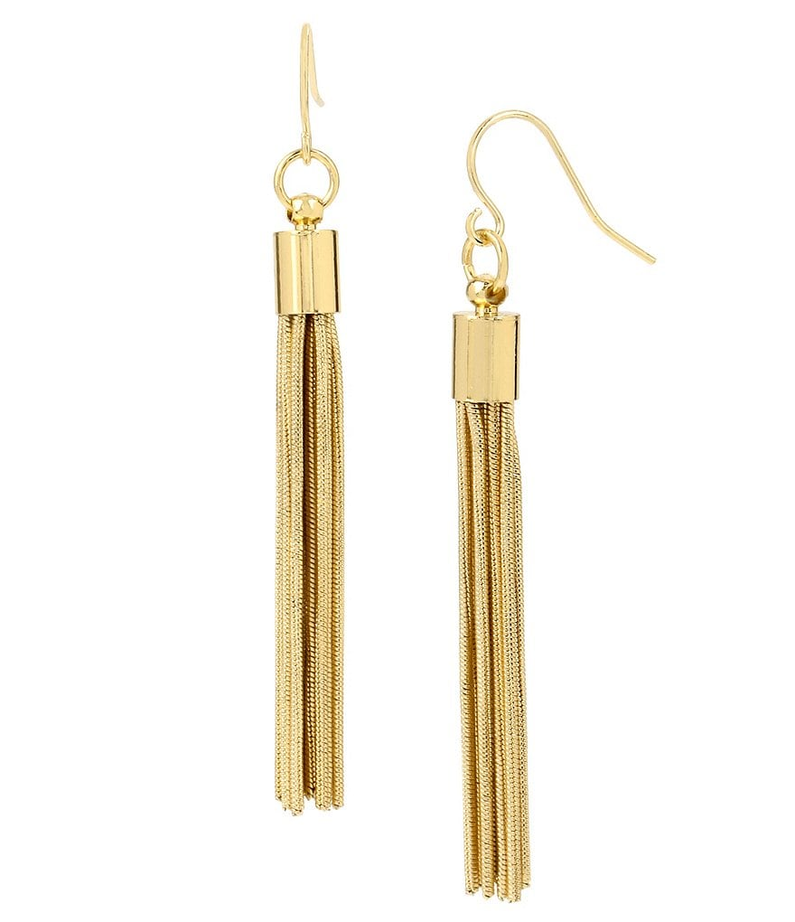 Kenneth Cole New York Chain Tassel Linear Earrings