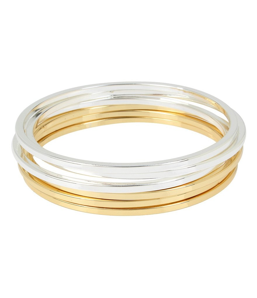 Kenneth Cole New York Two-Tone Bangle Bracelet Set