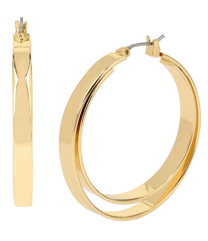 Kenneth Cole New York Double Hoop Earrings