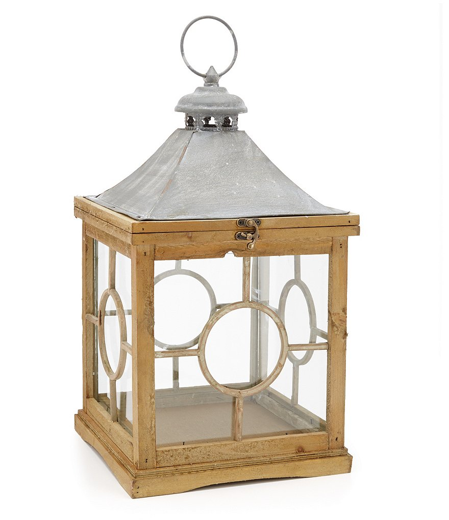 Park Hill French Revival Reclaimed Wood & Metal Lantern