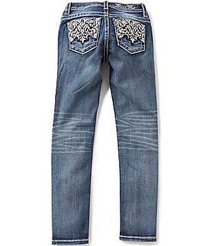 Miss Me Girls Big Girls 7-16 Embroidered-Pocket Skinny Jeans
