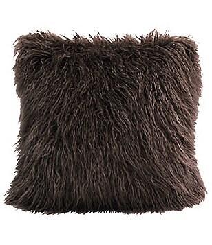 HiEnd Accents Mongolian Faux-Fur Pillow