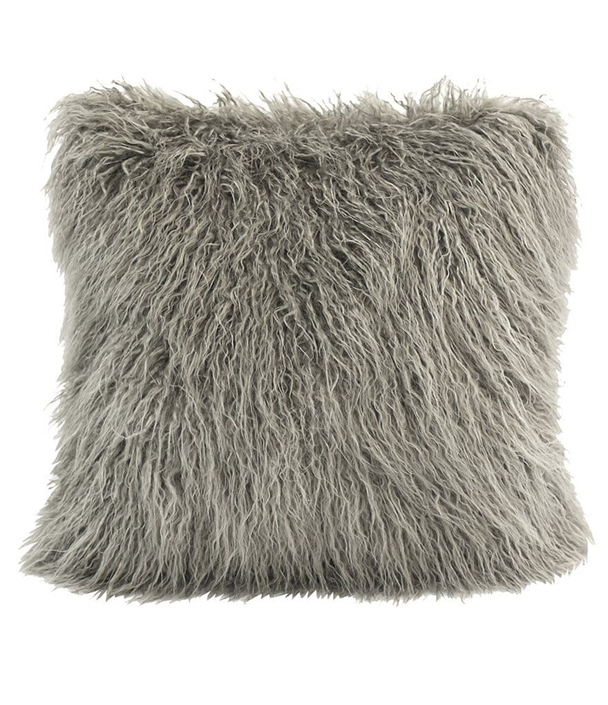 HiEnd Accents Mongolian Faux-Fur Pillow