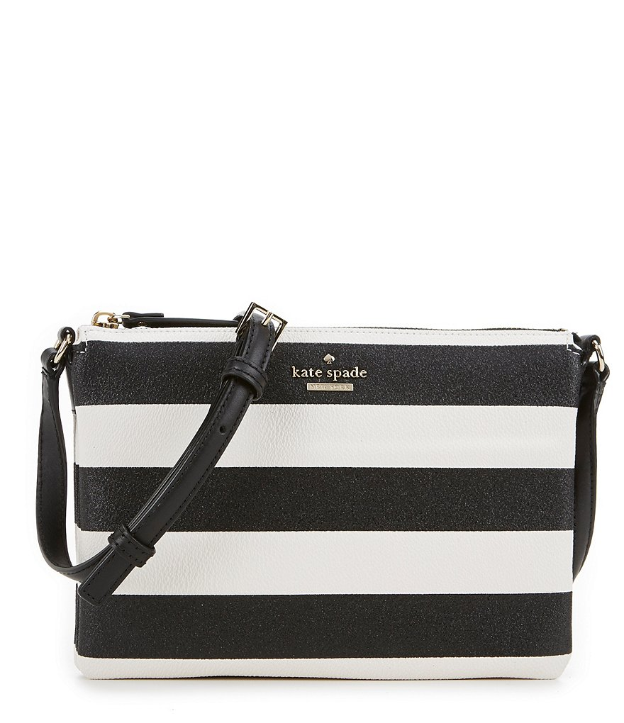kate spade new york Hawthorne Lane Collection Carolyn Glitter-Striped Cross-Body Bag