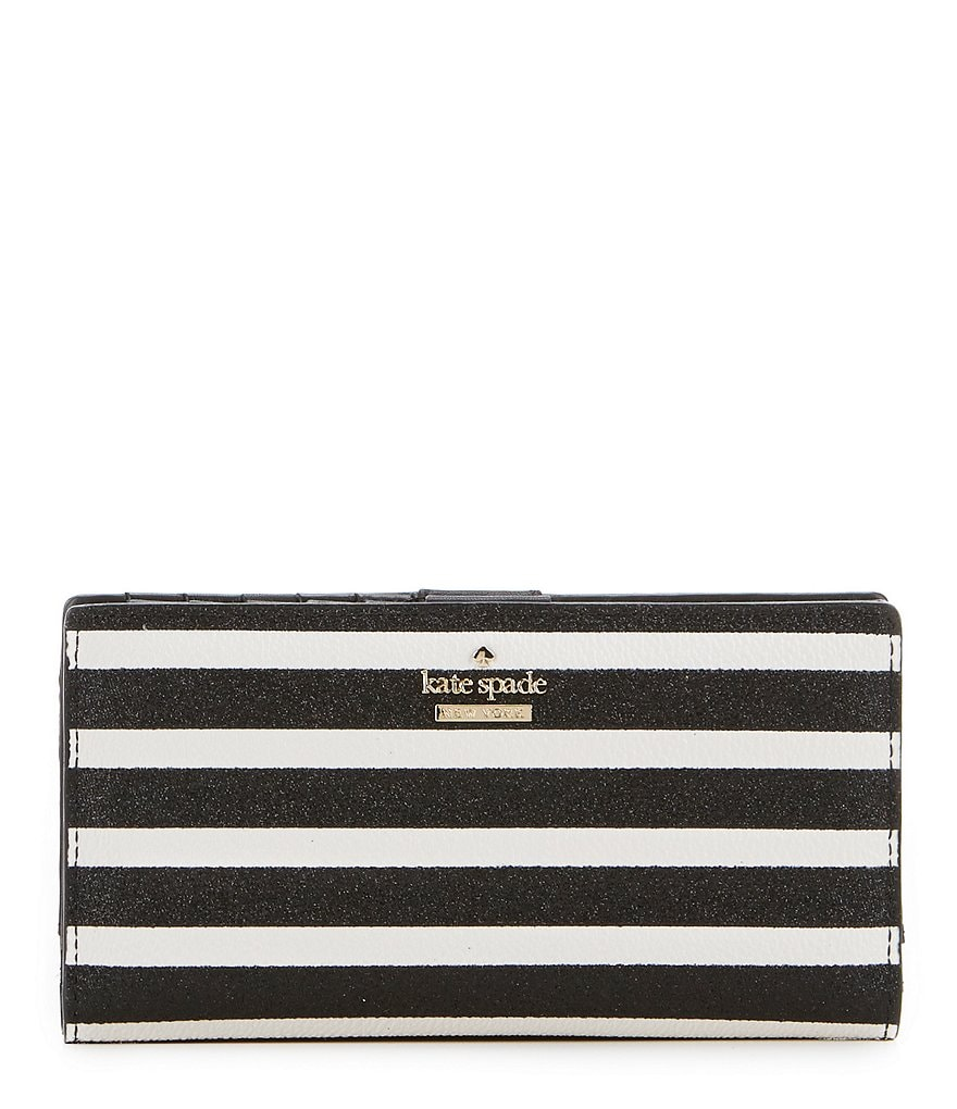 kate spade new york Hawthorne Lane Collection Stacy Glitter-Striped Continental Wallet