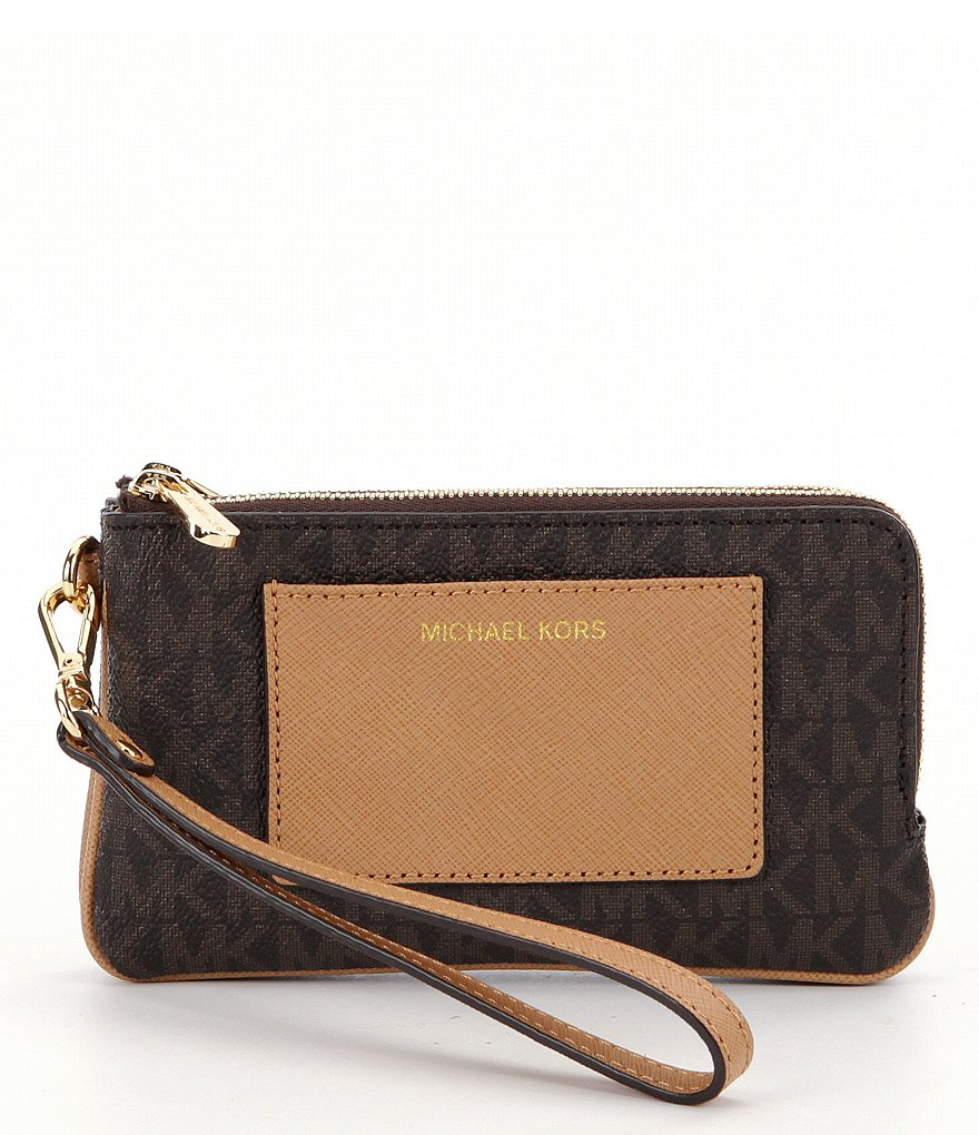 MICHAEL Michael Kors Bedford Medium Double-Zip Wristlet