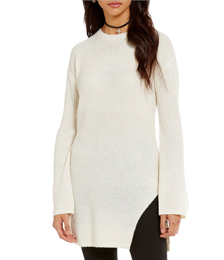 Chelsea & Violet Side Slit Sweater Tunic