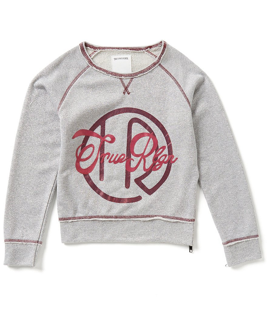 True Religion Big Girls 7-16 Glitter Branded Tunic Top