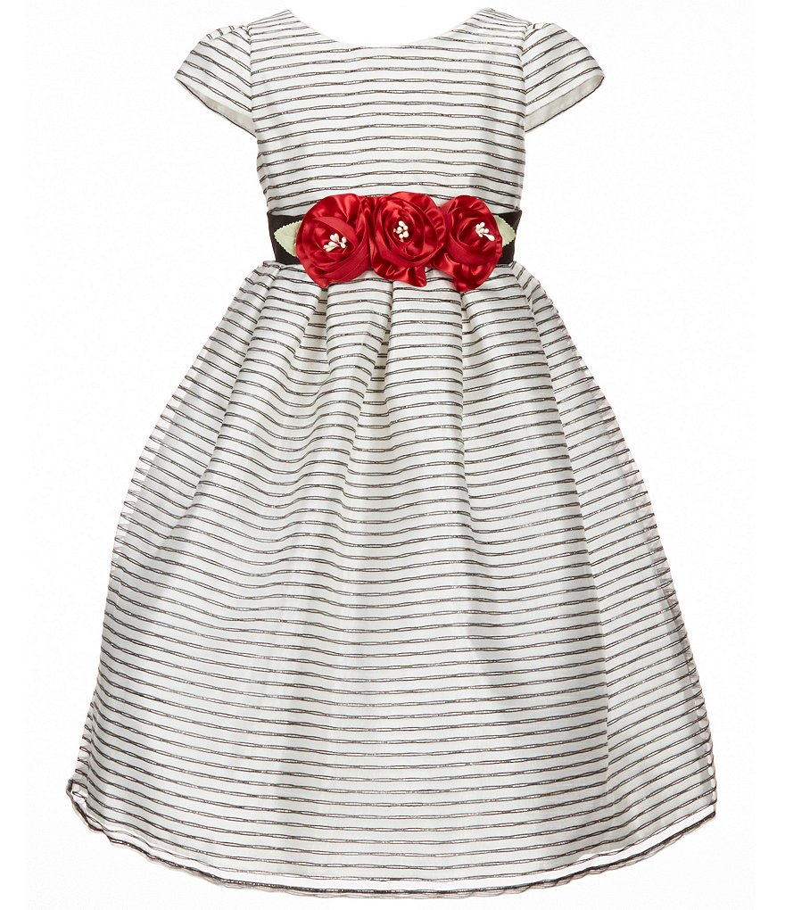 Jayne Copeland Big Girls 7-12 Floral-Appliqué Dress