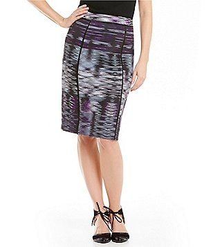 Alex Marie Sally Printed Pencil Skirt