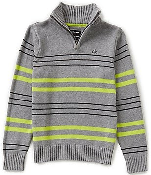Calvin Klein Jeans Big Boys 8-20 Color Block-Striped Pullover Sweater