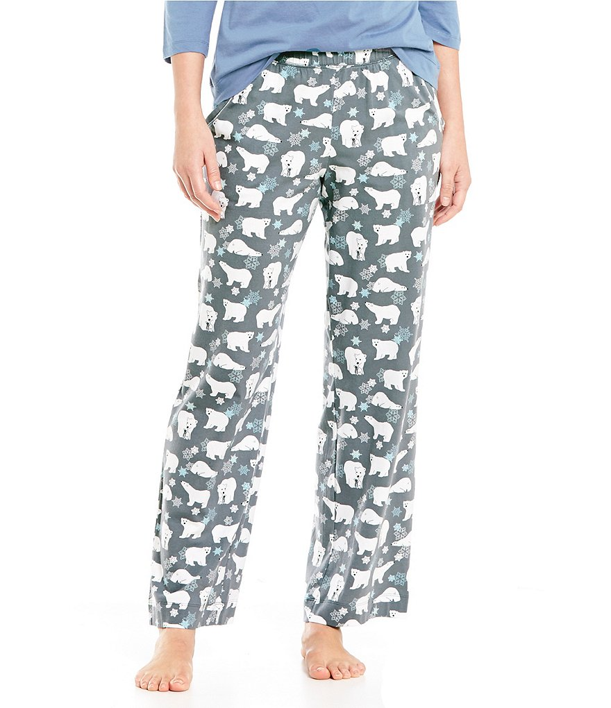 Sleep Sense Petite Holiday Polar Bear Sleep Pants