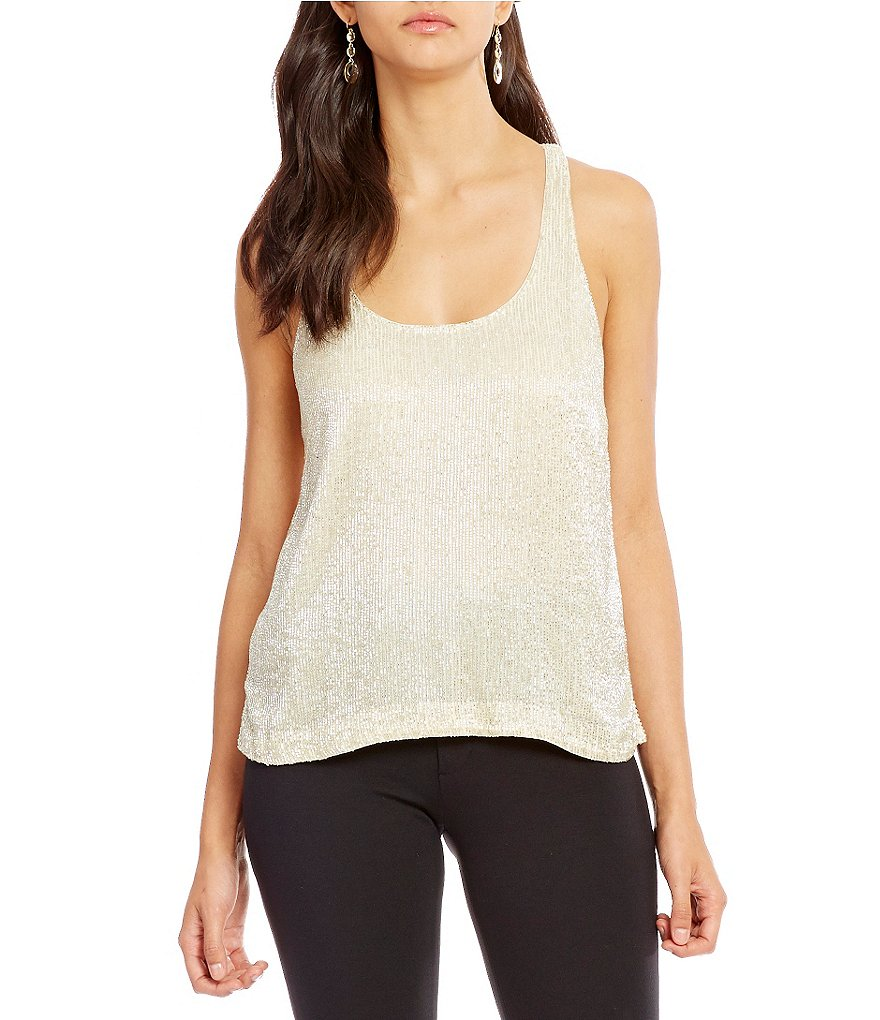 Polo Ralph Lauren Beaded Georgette Racerbak Tank