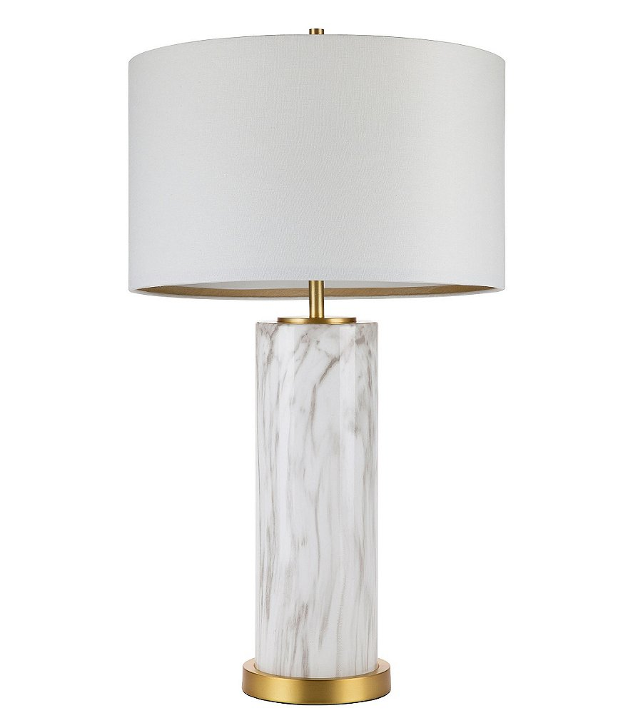 Cupcakes & Cashmere Marbled Glass Column Table Lamp