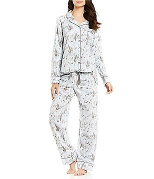 Van Winkle & Co. Woodland Animal-Print Portuguese Flannel Pajamas