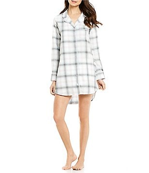 Van Winkle & Co. Shadow Plaid Portuguese Flannel Sleepshirt