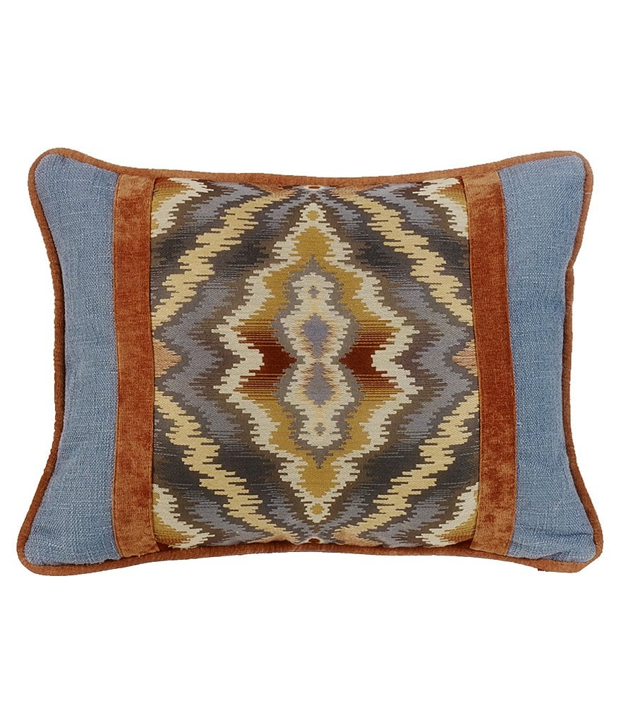 HiEnd Accents Lexington Pieced Tribal & Denim Boudoir Pillow