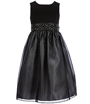 American Princess Little Girls 4-6X Beaded-Waist Dress