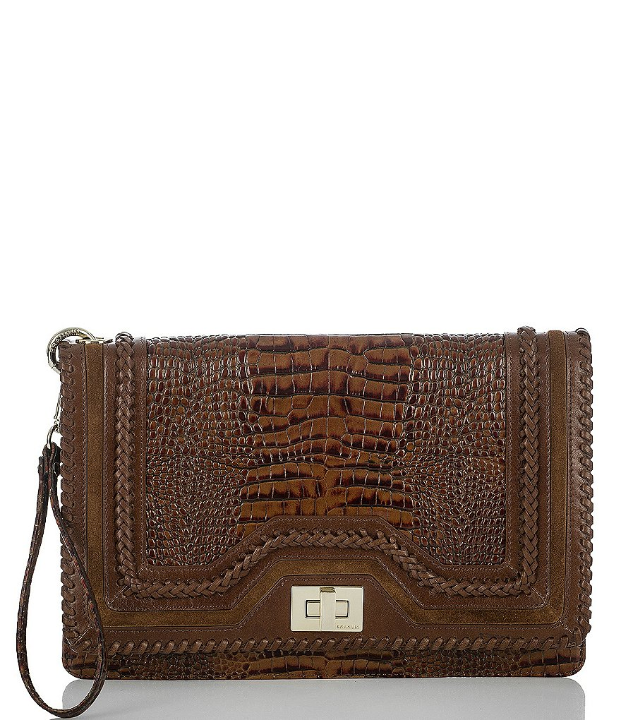 Brahmin Rockdale Collection Lily Crocodile-Embossed Pouch