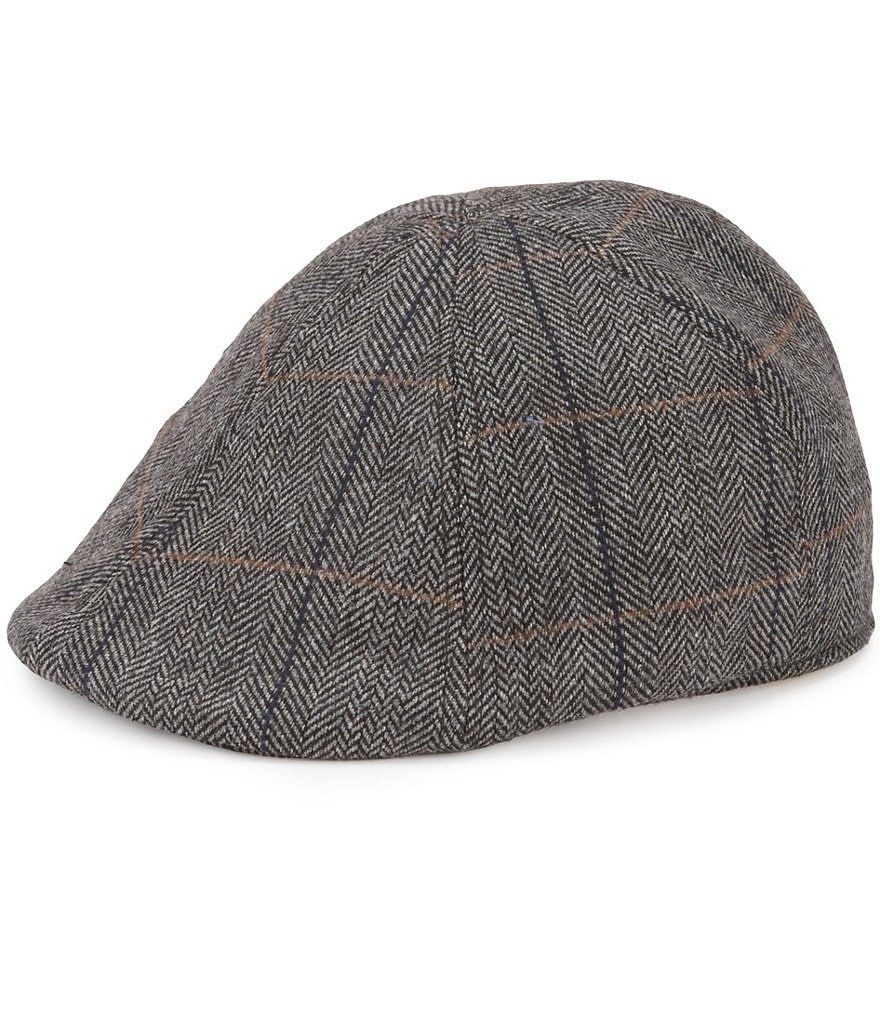 Cremieux Plaid Herringbone Duckbill Hat