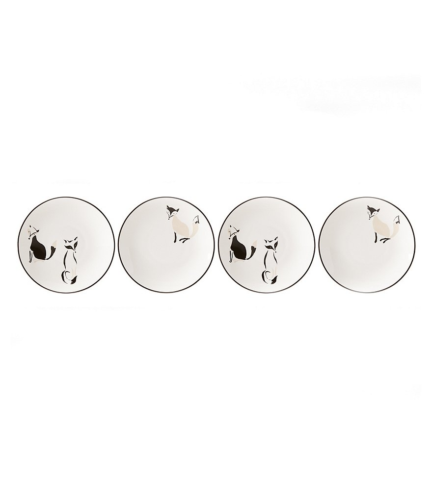 kate spade new york Forest Drive Tidbit Plates, Set of 4