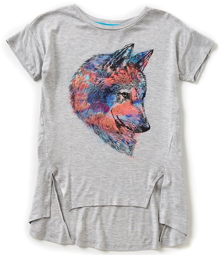 GB Girls Big Girls 7-16 Wolf High-Low Tee