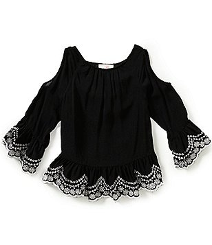 GB Girls Big Girls 7-16 Embellished Cold Shoulder Blouse