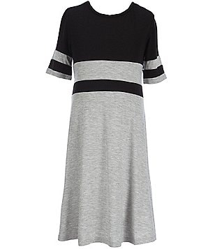 GB Girls Big Girls 7-16 Color Blocked Knit Dress