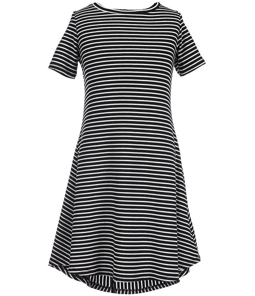 GB Girls Big Girls 7-16 Stripe Lattice Back Dress