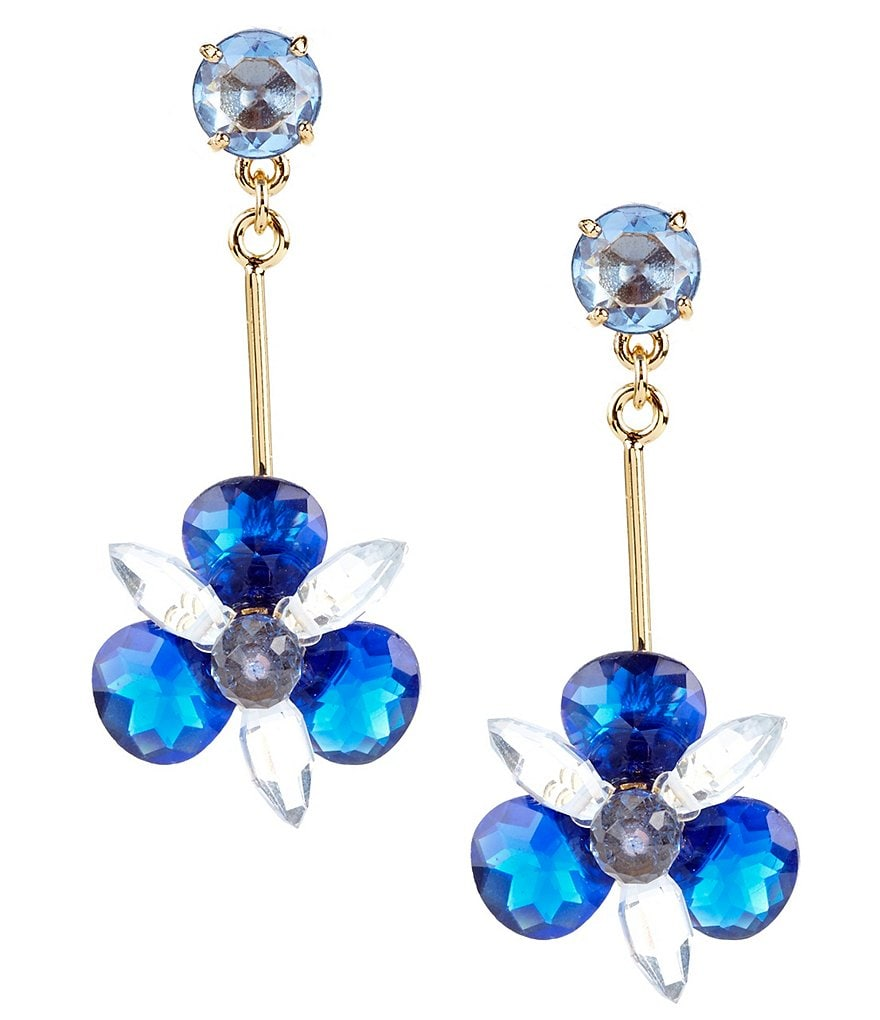 kate spade new york Blooming Brilliant Linear Drop Earrings