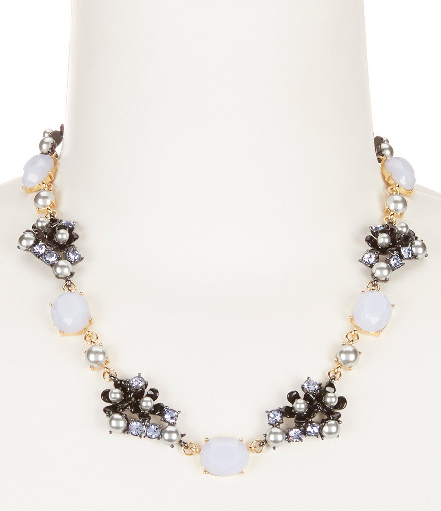 kate spade new york Precious Petals Flower Cluster Collar Necklace