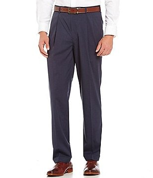 Roundtree & Yorke Travel Smart Ultimate Comfort Classic Fit Pleated Textured Dress Pants