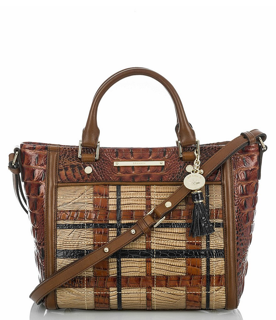 Brahmin Canterbury Collection Mini Arno Plaid Tote