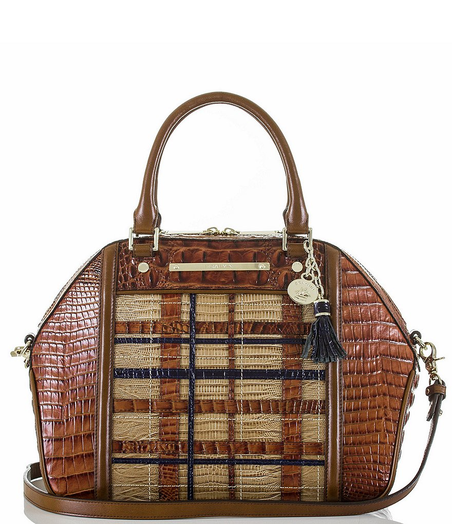 Brahmin Canterbury Collection Hudson Plaid Satchel