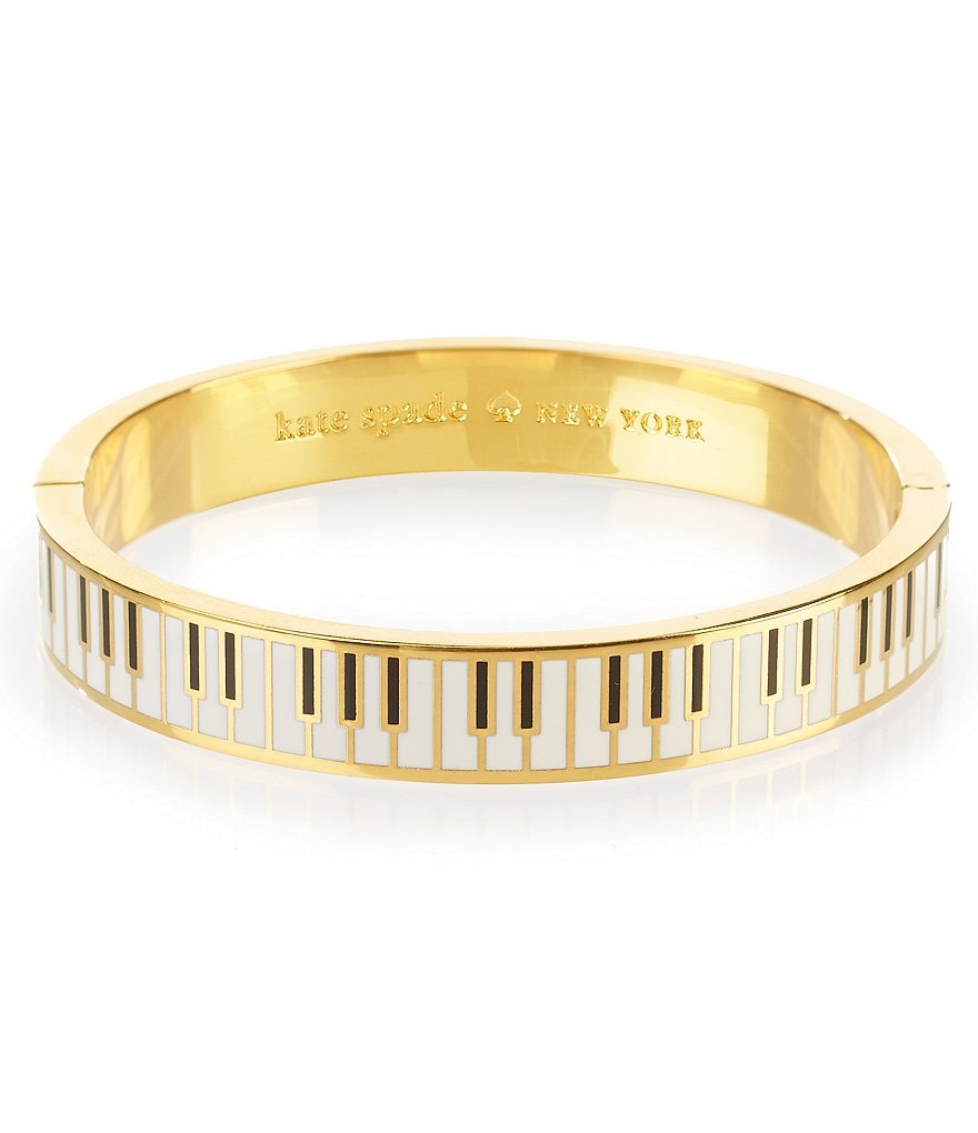 kate spade new york So Well Versed Hinged Idiom Bangle Bracelet