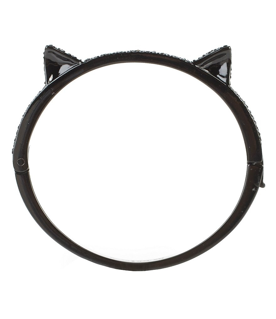kate spade new york Pavé Cat Ear Bangle Bracelet
