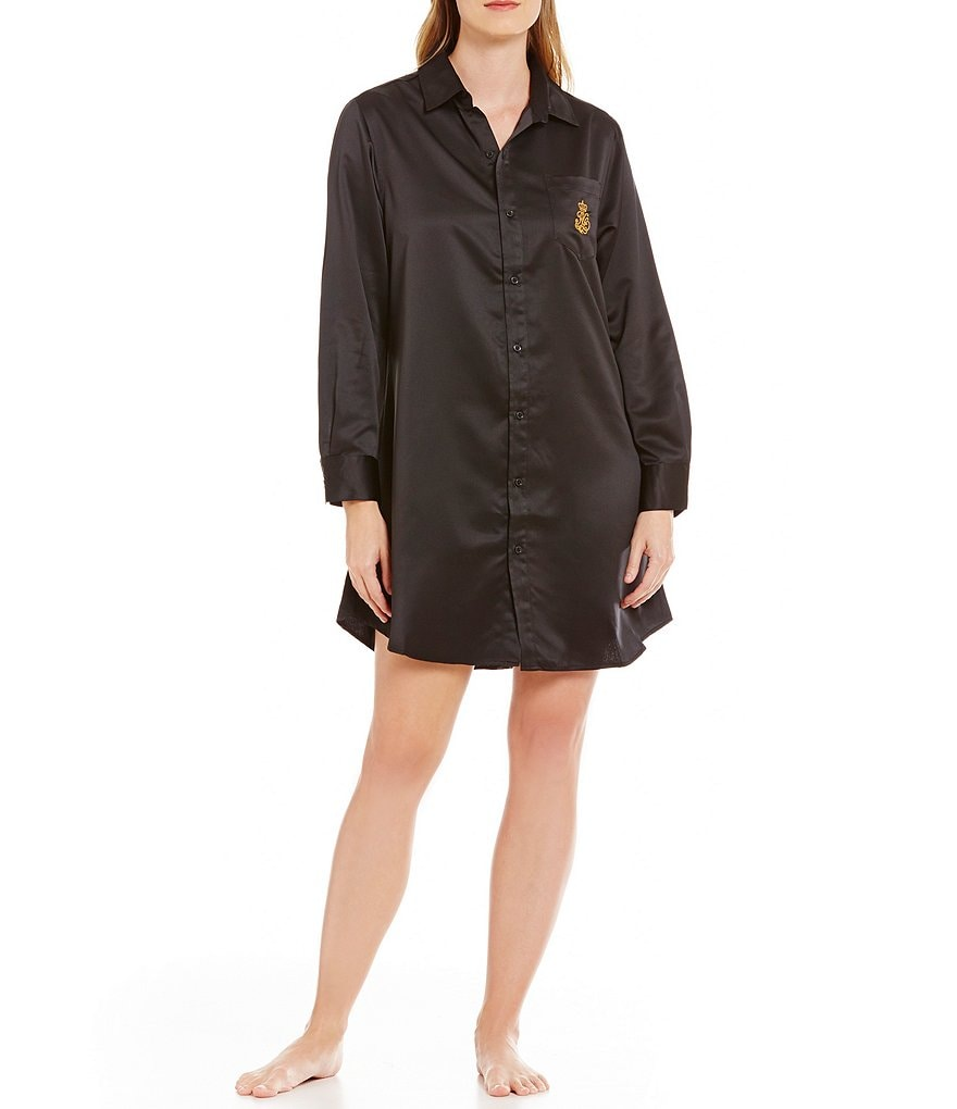 Lauren Ralph Lauren His Shirt Satin Sleepshirt