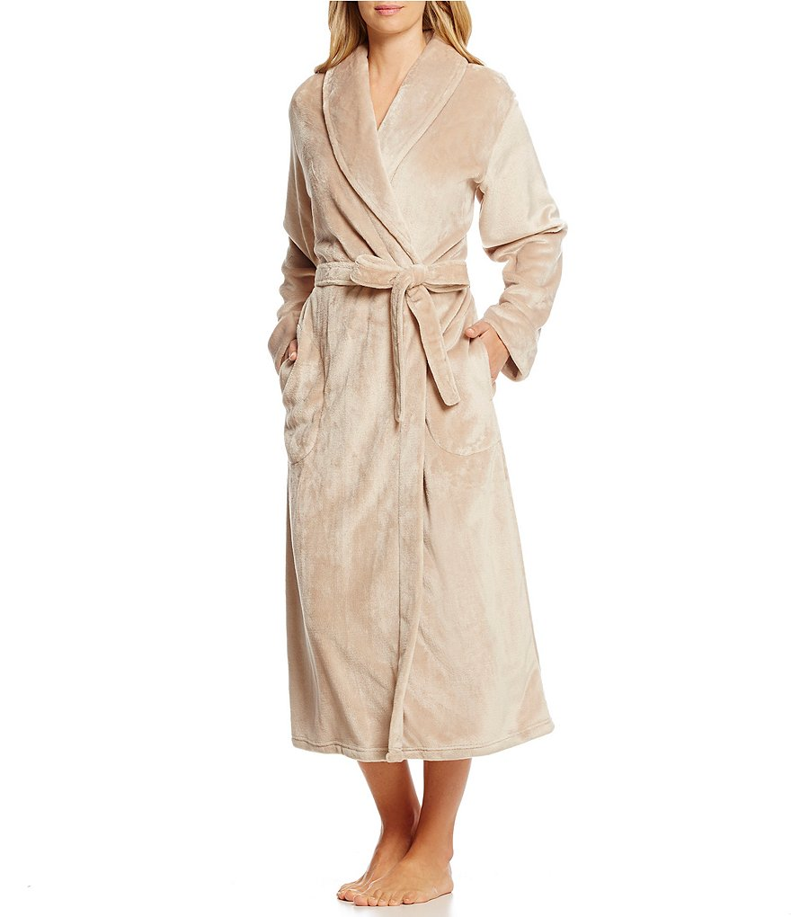 Miss Elaine French Fleece Wrap Robe