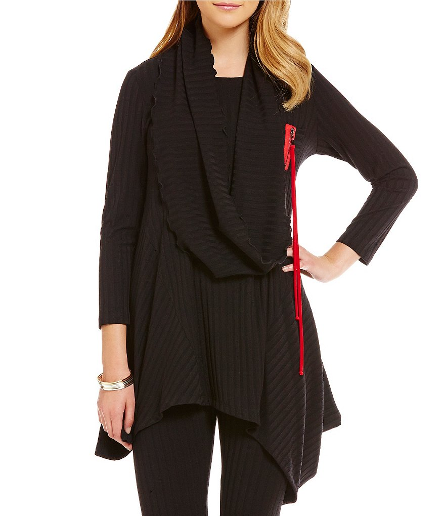 IC Collection Ribbed Knit Tunic