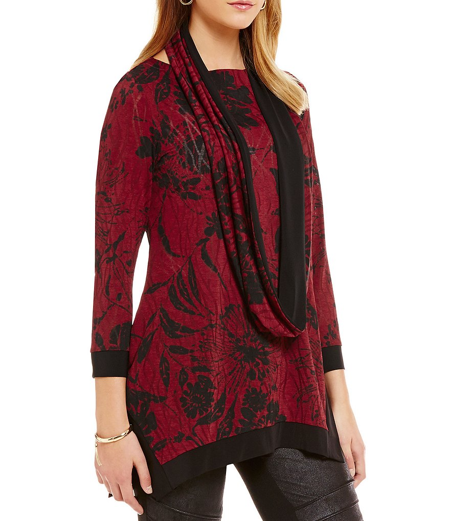IC Collection Printed 3/4 Sleeve Tunic